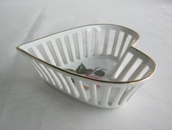 Bavaria porcelán szív alakú tál
