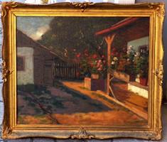 Nagybányai festő a 20-ik század elejéről olvashatatlan szignóval