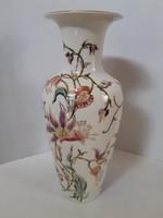 NAGY MÉRETŰ! Zsolnay íriszes v. liliomos váza hibátlan