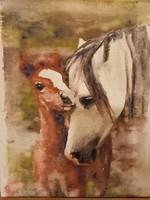 Szabó Nikoletta akril festménye