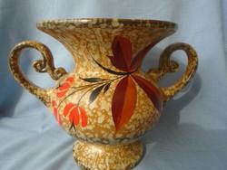 Francia art new  majolika  kerámia hibátlan váza eszméletlen finoman megmunkált alkotás 100% hand ma
