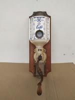 Antik konyhai eszköz porcelán falra szerelhető madaras kávé daráló