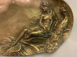 Névjegy kártatartó bronz szecesziós