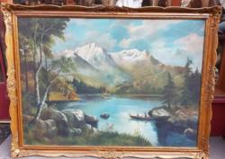 HATALMAS!!!! Szignált Nádasy R olaj vászon festmény 180 x 130 cm