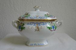 Alt Wien antik bécsi porcelán cukortartó 1859 biedermeier korszak hibátlan állapotban