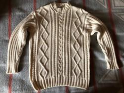Olasz QBE fehér kötött pulóver