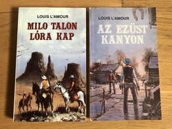 2 db Louis L'Amour könyv - Az Ezüst kanyon /  MILO Talon lóra kap