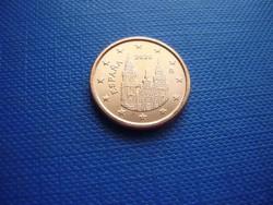 SPANYOLORSZÁG 1 EURO CENT 2020! UNC! RITKA!