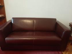 Bordó bőr kanapé
