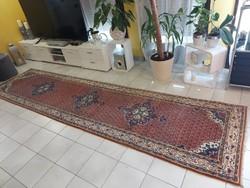 Indiai bidjar minta 85x350 kézi gyapjú perzsa futó szőnyeg Kzm_413 ingyen posta
