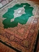 360 x 245 cm kézi csomozasu antik Kirman perzsa szőnyeg eladó