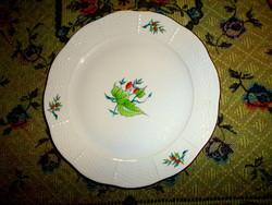 Herendi csipkebogyó  mintával lapos tányér 25  cm