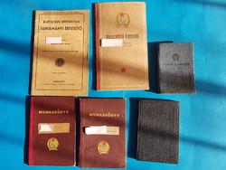 6 db bizonyítvány, igazolván 1945- 1955 között kiállítva , Rákosi korszak