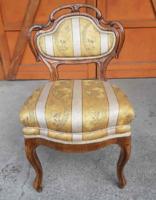 Biedermeier neobarokk szék, rugós, jó állapotú