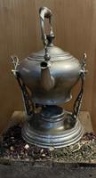 Antik tea kancsó szamovár, ezüst bevonattal, ritkaság