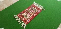 1719 INGYEN FUTÁR Gyönyörű Tisztított Kézi Perzsa Szőnyeg 59X35CM