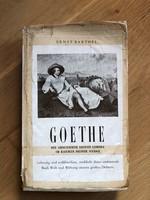 Ernst Barthel - Goethe c. antik német nyelvű könyv - 1948-as