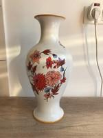 Hollóházi porcelán ritka mintás váza 36 cm magas