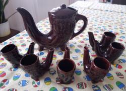 Brandy set - ceramic