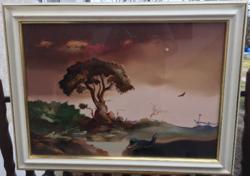 """Árkossy István"""" szabadon"""" című  olajfestmény 50 x 70 cm méretben"""