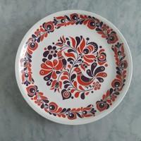 Retró! Madár, kakas fekete, fehér, piros alföldi porcelán tányér, dísztányér