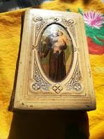 Régi megviselt imakönyv szép borítóval