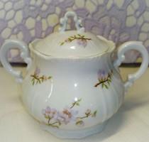 Zsolnay lila barackvirág mintás cukortartó (mokkás készlethez)