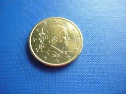 BELGIUM 50 EURO CENT 2015 ! UNC! FÜLÖP KIRÁLY! RITKA!