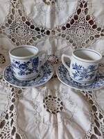 Meisseni nagymétetü teás csészék.