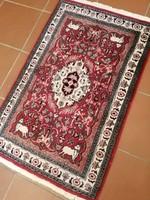105 x 66 cm kézi csomozasu Iráni perzsa szőnyeg eladó