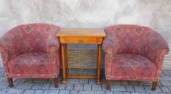 Art Deco fotelek és asztal
