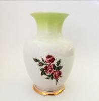 Régi Hollóházi porcelán rózsás váza