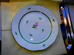 Herendi bécsi rózsás  mintával lapos tányér - festői szignóval 25  cm