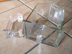 Régi fűszertartó fiókok üvegből (14 db) recycling részére