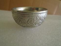 Ezüstözött antik cca 1940 évekből  szakés pohár igen súlyos kis darab 63 gramm