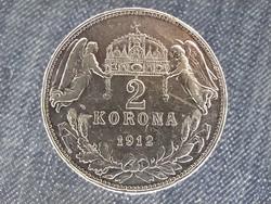 Ferenc József (1848-1916) .835 ezüst 2 Korona 1912 KB (id22325)