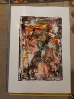 70x100 cm teljes méret, festmény, tempera, kartonon, jelzés nélkül, Balla Tibor (1969)