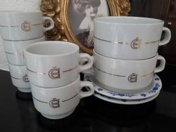 Alföldi kávés csésze,leveses + 2 alj