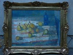 Eladó Munkácsy-díjas Göllner Miklós: Gyümölcsök című olajvászon, Képcsarnokos festménye