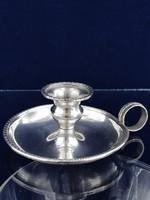 Hordozható ezüst gyertyatartó