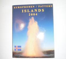 Island Iceland Euro Forgalmi sor 2004 Próba tervezet