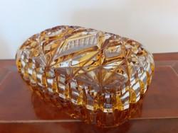 Retro üveg bonbonier régi üveg doboz