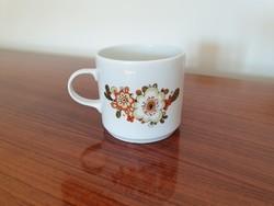 Retro Alföldi porcelán bögre virágos teás csésze 2 db