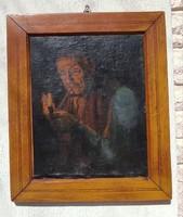 Pipàzó portré, tajték pipa,paraszt bàcsi Pipàzó festmény.Horvàth G.Andor,Ott Zoltán jó színekkel