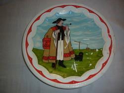 Régi porcelán fajansz gránit fali tányér