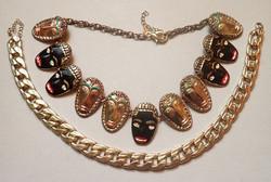 2 db arany színű nyaklánc Zara különleges tűzzománc nyaklánc bizsu ékszer