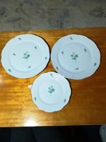 Herendi 2 lapostányér + 1 süteményes tányér
