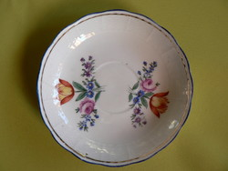 Antik Herendi tulipános ( kisebb minta) tányér, Fisher Mór korszak, 1850
