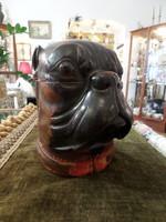 Kutya alakú antik dohánytartó