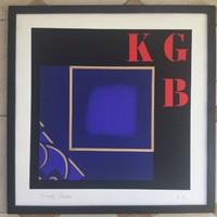 """Joseph KADAR (1936-2019)"""" KGB."""" Litográfia  EA.Művészpéldány! 50x50cm. KURIÓZUM!"""